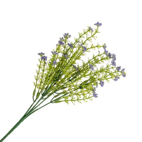 Цветок искусственный с фиолетовыми соцветиями, 31см