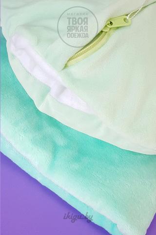 Милый Единорог с пледом Голубой