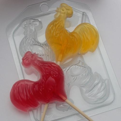 Петушки на палочке, форма пластиковая