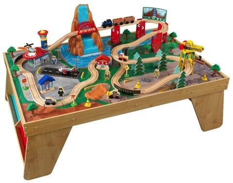 KidKraft Железнодорожная станция Waterfall Station Train Set and Table In Natural - игровой набор 18001_KE