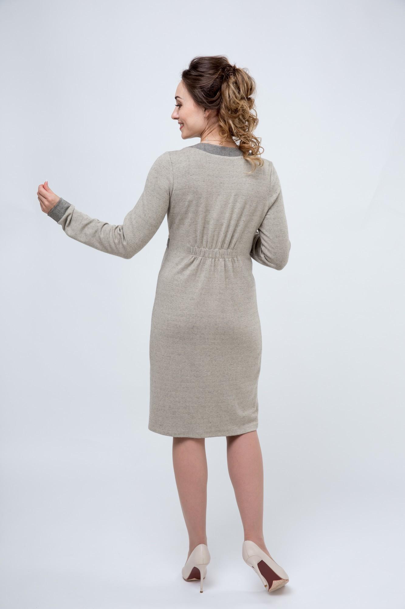 Платье 08054 бежевый