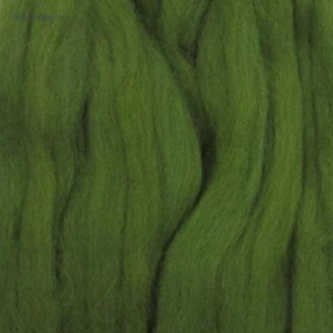 Шерсть для валяния полутонкая 448 Светло-оливковый Пехорка