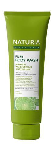 Гель для душа Evas Naturia Pure Body Wash Wild Mint & Lime, 100мл