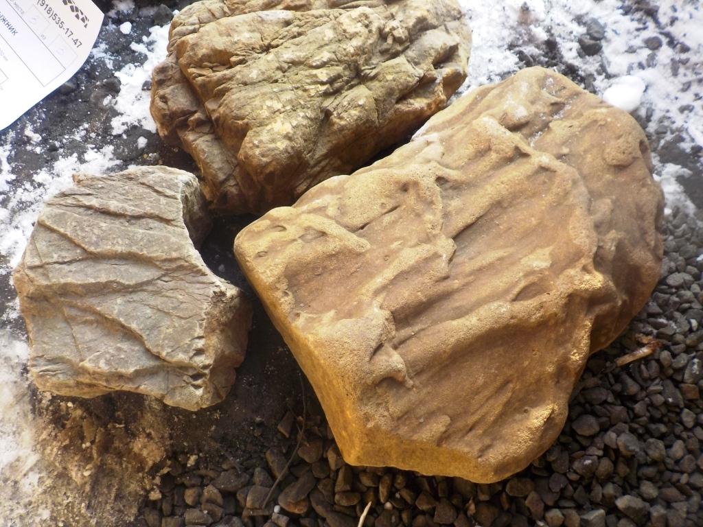 Булыжник Дракон Серо-чёрный образцы камня