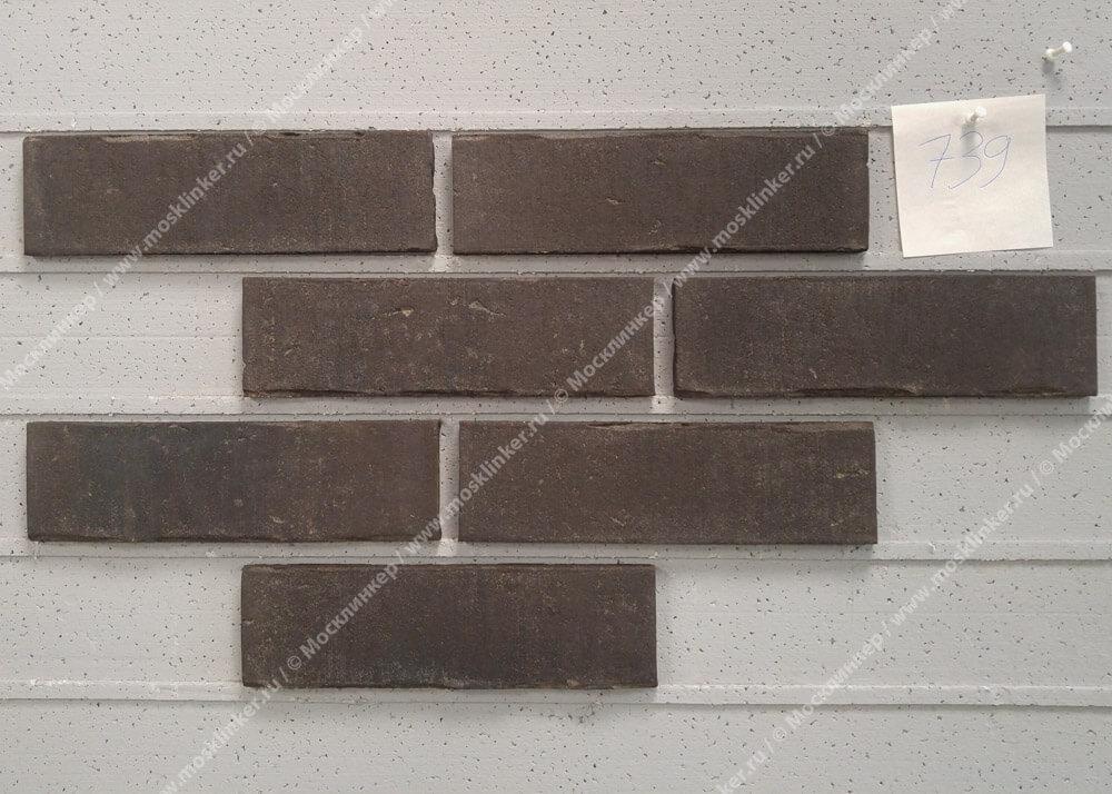 Плитка для фасада и внутренней отделки Feldhaus Klinker, VASCU, R739NF14, поверхность Wasserstrich, vulcano blanca
