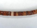 Бусина из яшмы красной, фигурная, 2x4 мм (рондель, гладкая)