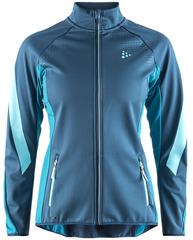 Элитная лыжная куртка Craft Sharp Softshell XC Blue женская
