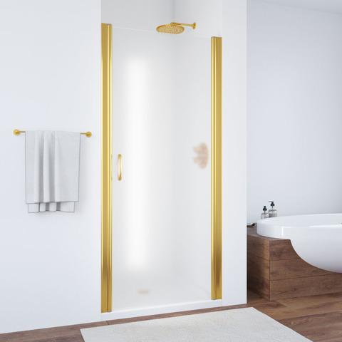 Душевая дверь в нишу Vegas Glass EP профиль золото, стекло сатин
