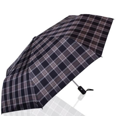 Зонт мужской в клетку ТРИ СЛОНА 907-1