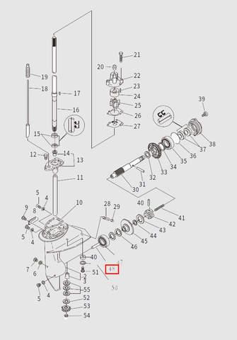 Вал включения сцепления для лодочного мотора T9.8 Sea-PRO (13-48)