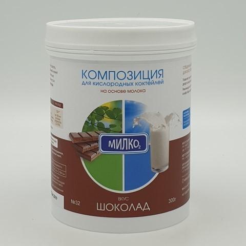 Композиция для молочных кислородных коктейлей Шоколад, 300 гр