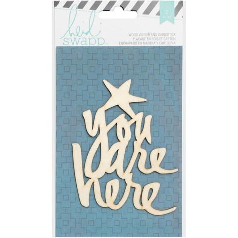 """Деревянный чипборд """"You are here"""" от Heidi Swapp"""