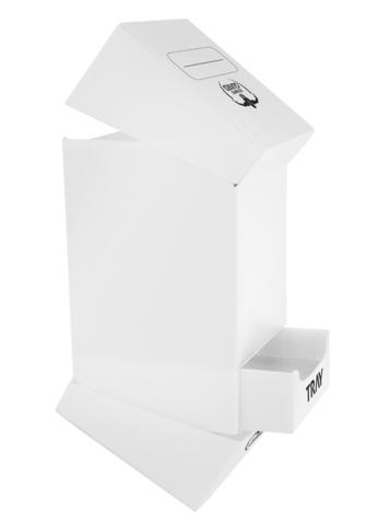 Ultimate Guard - Белая коробочка на 100 карт с отделением для кубиков