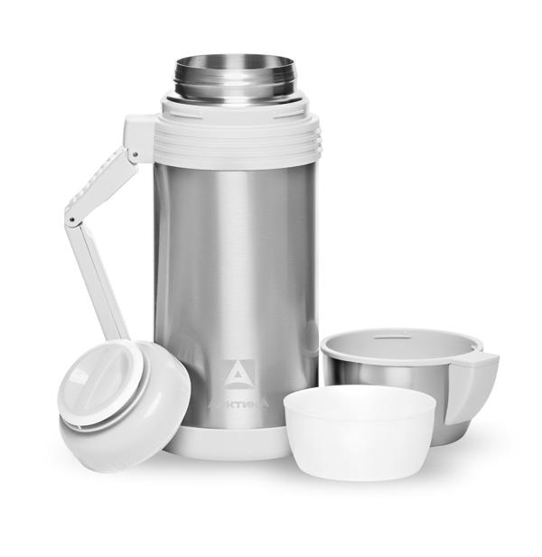 Термос универсальный (для еды и напитков) Арктика (1,8 л.) с широким горлом, стальной