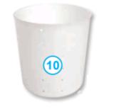 Круглая форма для сыра, стаканчик (700 мл)