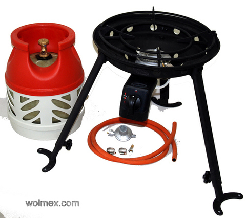 Комплект 46. Горелка газовая для вока Wolmex C4201D с композитным баллоном и редуктором EN61 - V50