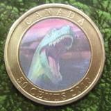 K8764, 2010, Канада, 50 центов  Динозавры Голограмма Буклет блистер + 6 карточек