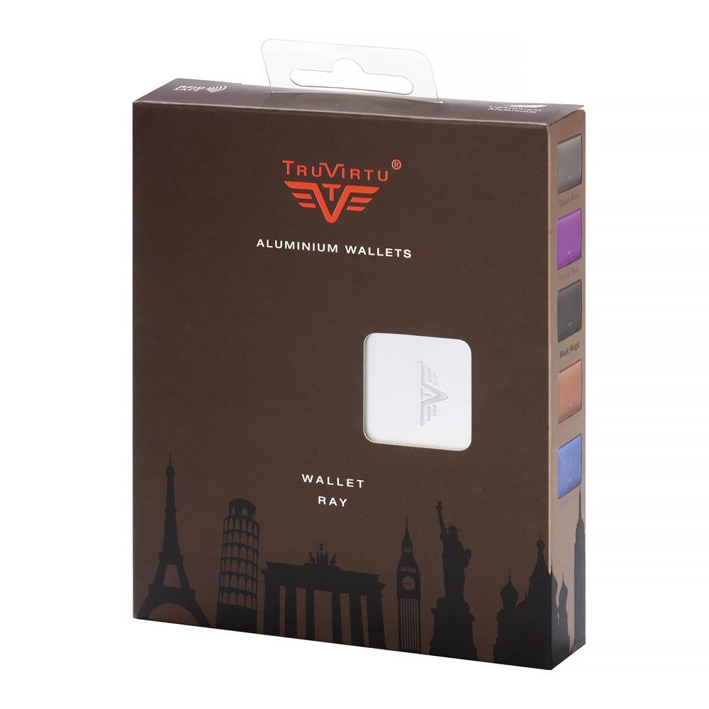 Кошелек-органайзер c защитой Tru Virtu RAY, цвет светло-бежевый , 130*102*23 мм