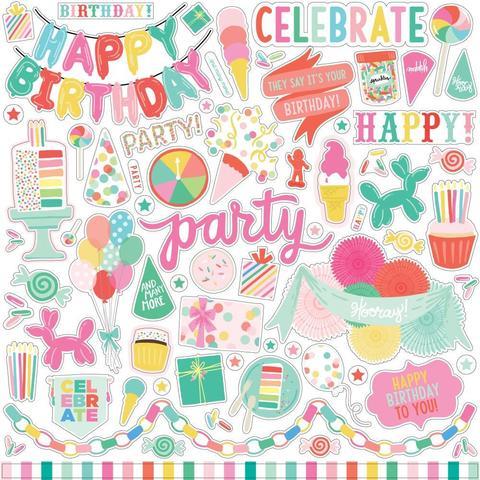 Стикеры 30х30см - Let's Party
