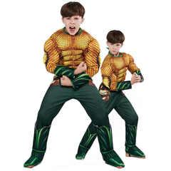 Лига Справедливости костюм детский Аквамен с мускулами