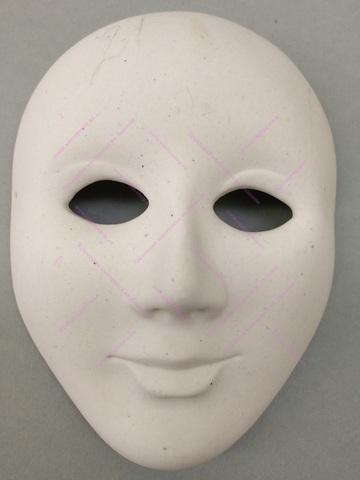 Фарфоровая заготовка большой маски
