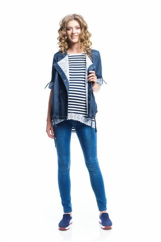 Ветровка для беременных джинс