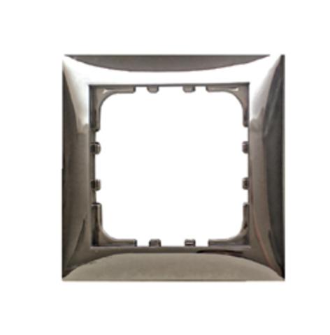 Рамка на 1 пост. Цвет Блестящее серебро. LK Studio LK60 (ЛК Студио ЛК60). 864143