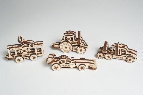 Деревянный конструктор Фиджеты - Транспорт (4 шт.) (Ugears)