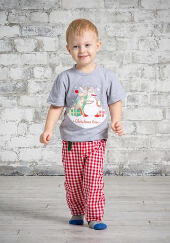 Новогодняя футболка и брючки для мальчика