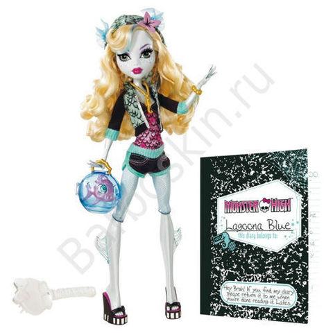 Кукла Monster High Лагуна Блю (Lagoona Blue) - Базовая с питомцем, Mattel