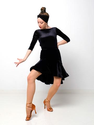 Боди для танцев с качелью арт. 609бархат