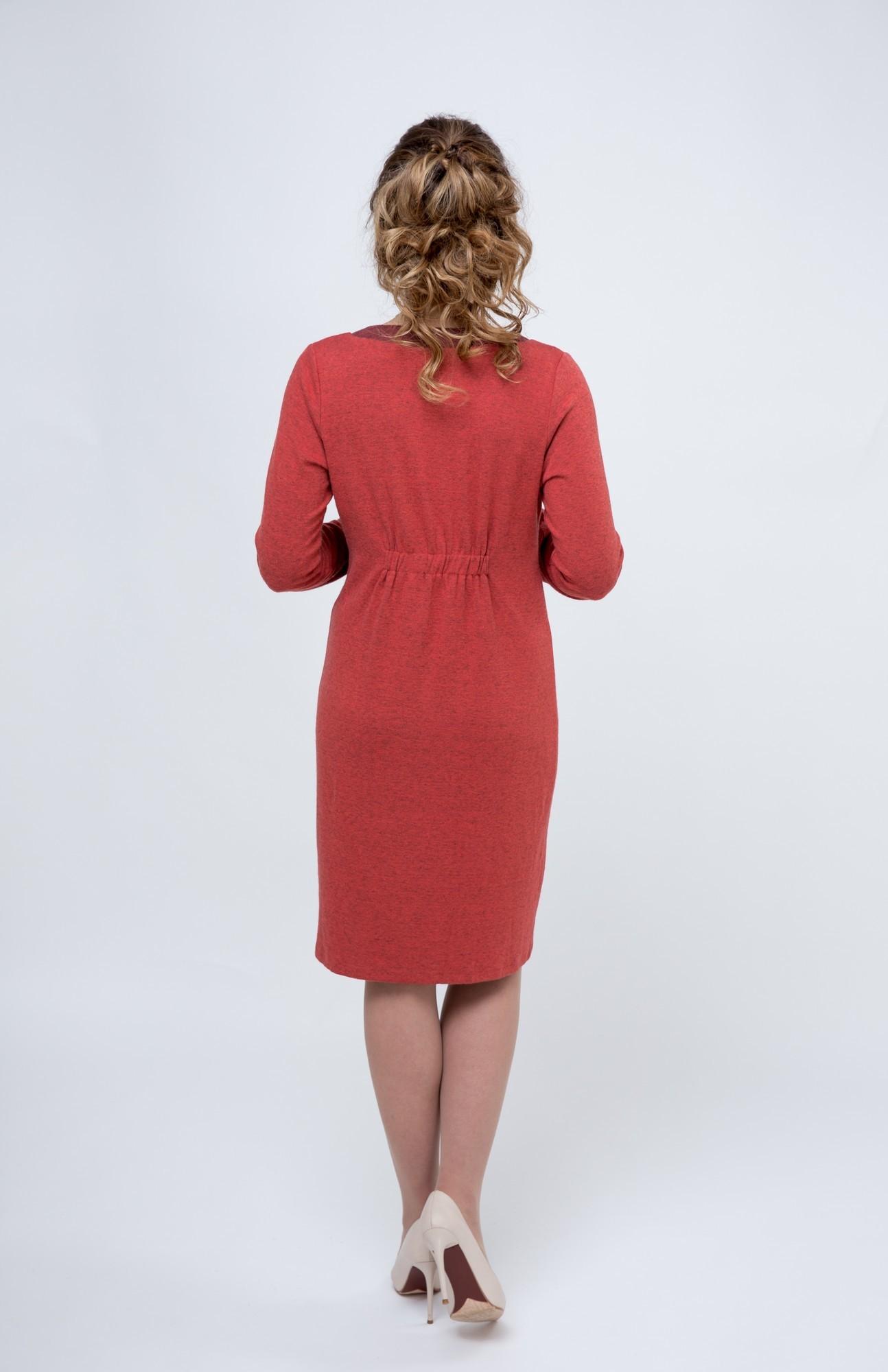 Платье 08054 красный