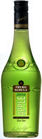 Ликер Fruko Schulz Green Apple, 0.7 л