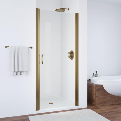 Душевая дверь в нишу Vegas Glass EP профиль бронза, стекло прозрачное