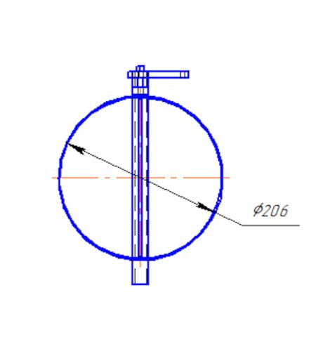 Дроссель-клапан D 200 мм с ручным управлением полипропилен
