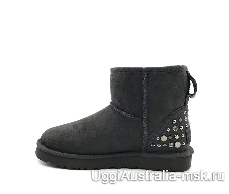 UGG Women's Classic Mini Studded Bling Grey