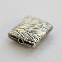 Бусина металлическая квадратная (цвет - античное серебро) 10х9 мм