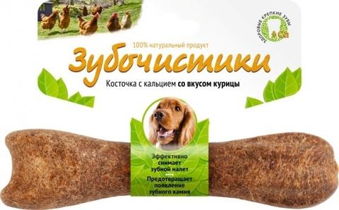 ЗУБОЧИСТИКИ Лакомство жевательное для собак средних пород со вкусом Курицы