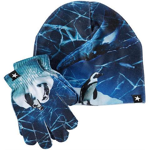 Комплект Molo: шапка и перчатки Kaya Frozen Ocean
