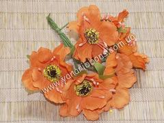 Букет цветов Дикий мак оранжевый