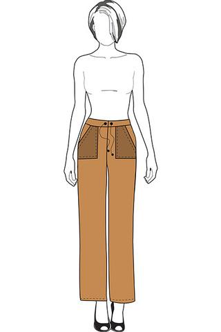 Выкройка прямых трикотажных брюк
