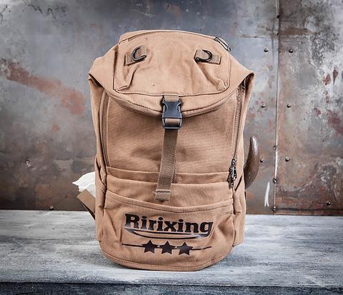 Мужской тканевый рюкзак цвета хаки