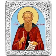 Святой Максим. Маленькая икона в серебряной раме.