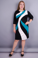 Клавдия. Оригинальное женское платье больших размеров. Мята.
