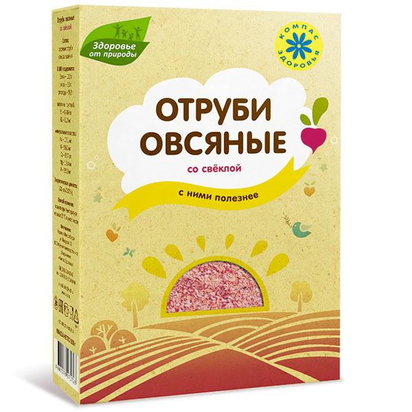Отруби овсяные, Компас Здоровья, со свеклой, 200 г