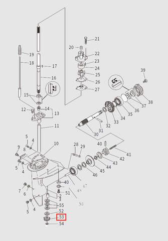 Шестерня ведущая для лодочного мотора T9.8 Sea-PRO (13-53)