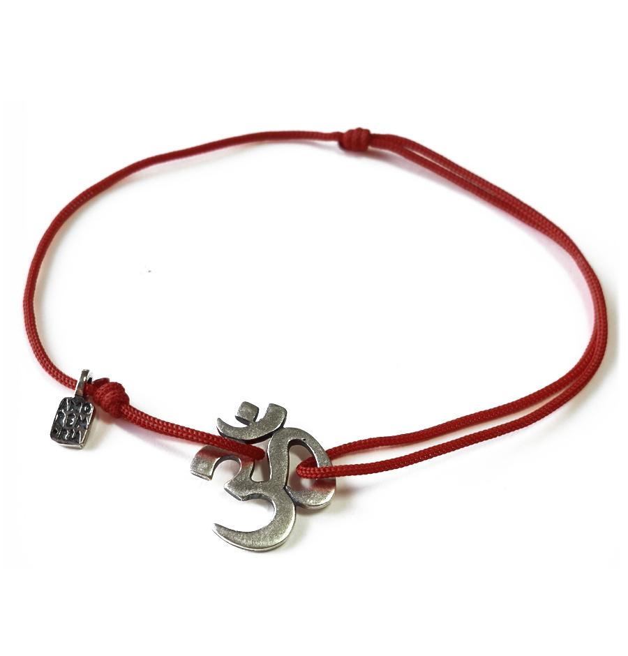 OM Bracelet, sterling silver
