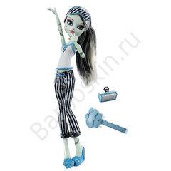 Кукла Monster High Фрэнки Штейн (Frankie Stein) - Пижамная вечеринка или Смертельно уставшие (Dead tired), Mattel