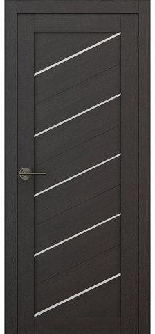 Дверь APOLLO DOORS F15, стекло матовое, цвет каштан тёмный, остекленная