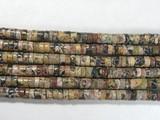 Нить бусин из яшмы леопардовой, фигурные, 2x4 мм (рондель, гладкая)